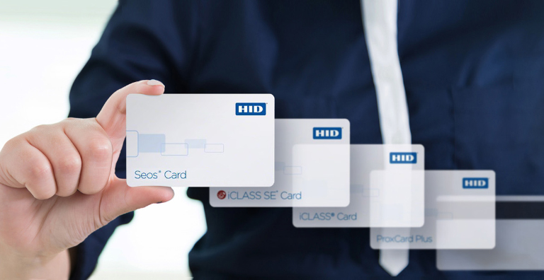man holding smart card